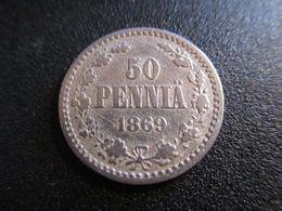 FINLAND 50 PENNIÄ 1869 RARE ! D-0154 - Finlandia