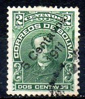 BOLIVIE. N°90 De 1911-2 Oblitéré. Elio Doro Camacho. - Bolivia