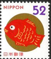 JAPON Voeux - Happy  Fish   1v 14 Neuf ** MNH - Neufs