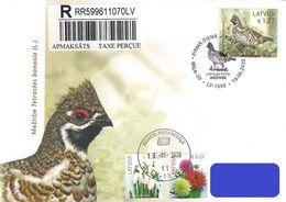 Latvia Lettland Lettonie 2020 (08-1) Birds Of Latvia - Hazel Grouse (addressed FDC) - Latvia