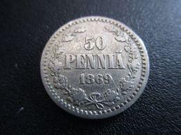 FINLAND 50 PENNIÄ 1869 RARE ! D-0157 - Finnland