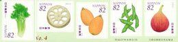 JAPON TP/adh. Fruits 5v 82 Y 2015 Neuf ** MNH - Ungebraucht