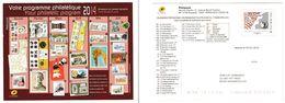 France : Programme Philatélique 2014 - Lettres & Documents