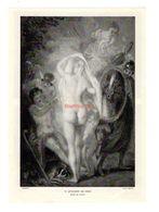 Pub Publicité Labo Fluxine Villefranche Sur Saône Tableau De Watteau Le Jugement De Pâris Femme Nue Nudité - Pubblicitari