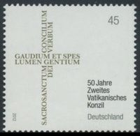 2012Germany2958Beginning Of The Second Vatican Council - Unused Stamps