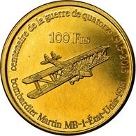Monnaie, France, 100 Francs, 2015, Paris, Iles Glorieuses, SPL, Bronze-Aluminium - Colonies