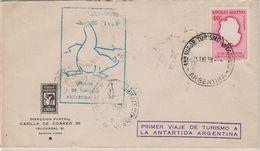 Argentina 1958 Primer Viaje De Turismo Antartida Argentina Cover Ca 15.01.1958 (48829) - Argentina