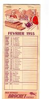 Calendrier 1955 Pain D Epices Brochet Frere Virge Non Utilisé Enfant Famille Alimentaire Aliment Alimentation - Kalenders