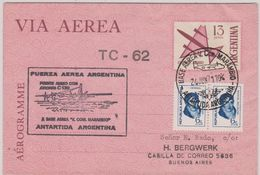 Argentina 1971 Antarctica Operacion Marambio IV Aerogramme Ca 24.06.1971 (48230) - Timbres