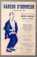 (humour??)  Monologue Comique  :   GARCON D'HONNEUR (ill L Ibels) 1912 (MPA PF 340) - Humour