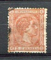 Yv. 1875 N°  153    (o)   2c  AlphonseXII   Cote  11  Euro  BE R  2 Scans - Usados