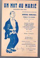 (humour??)  Monologue Comique  :   UN MOT AU MARIE     (ill L Ibels) 1912 (MPA PF 341) - Humour