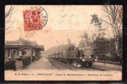 CHAVILLE - Ligne De Montparnasse - Intérieur De La Gare . - Chaville