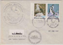 Argentina 1982 Antarctica  Bahia Paraiso Ca Orcadas 22.01.1982 Cover (48232) - Timbres