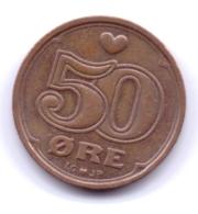 DANMARK 2000: 50 Öre, KM 866 - Dinamarca