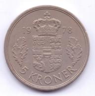 DANMARK 1978: 5 Kroner, KM 863 - Denemarken