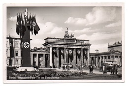 Berlin Brandenburger Tor Im Festschmuck Foto AK 1939 - Brandenburger Tor