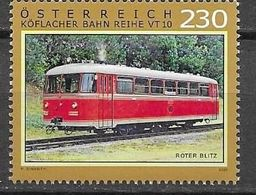 AUSTRIA, 2020, MNH, TRAINS, ROTER BLITZ, GRAZ KOFLACHER RAILWAY CLASS VT-10,1v - Trains