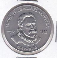 MONEDA DE CUBA DE 1 PESO DEL AÑO 1982 MIGUEL DE CERVANTES (COIN) (NUEVA - UNC) - Cuba