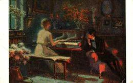 Lapina 5427 - L Alleaume, Du Chopin (piano, Femme) - Pittura & Quadri