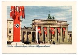 Berlin Brandenburger Tor Im Festschmuck Original AK - Brandenburger Tor