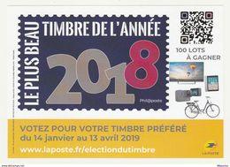 France : Election Du Plus Beau Timbre De L'année 2018 - France