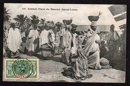 PARAKOU: Timbre N° 21 Obl Parakou En 1909 Sur Une Très Belle Carte: Plan TOP Sur Le Marché Belle Animation - Lettres & Documents