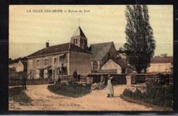 LA CELLE-SUR-SEINE - Entrée Du Port . Carte Entoillée. - Autres Communes