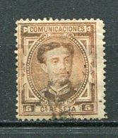 Yv. 1876 N°  163    (o)   5c  AlphonseXII   Cote  4  Euro  BE   2 Scans - Usados