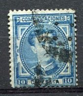 Yv. 1876 N°  164    (o)   10c  AlphonseXII   Cote  0,5  Euro  BE   2 Scans - Usados