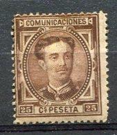 Yv. 1876 N°  166  *   25c  AlphonseXII   Cote  9  Euro  BE R  2 Scans - Ongebruikt