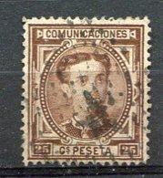 Yv. 1876 N°  166  (o)   25c  AlphonseXII   Cote  5,5  Euro  BE R  2 Scans - Usados