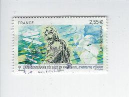 Centenaire Du Saut En Parachute D'Adolphe Pégoud PA 76 Oblitéré 2013 - 1960-.... Matasellados
