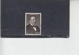 ISLANDA  1968 - Unificato  380° - Magnosson - 1944-... Republique