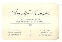 """8460"""" ARNOLFO JANNON-RAPPRESENTANZE FORNITURE MILITARI E CIVILI-TORINO-1921 """" ORIGINALE CON MARCA DA BOLLO - Visiting Cards"""
