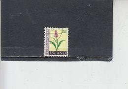 ISLANDA  1968 - Unificato  371° - Fiori - 1944-... Republique