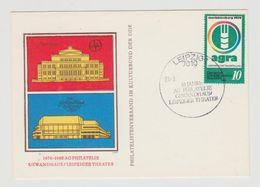 FDC Ersttagsbrief DDR AG Philatelie Gewandhaus Leipziger Theater 1980 - [6] Democratic Republic