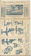 LYON . GALLIEN ET CHARTON . DEPLIANT 8 PAGES DOUBLES CATALOGUE MACHINES ET OUTILS - Autographs
