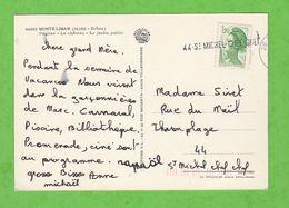 GRIFFE LINEAIRE SUR CARTE POSTALE 44-ST MICHEL-CHEF-CHEF - Marcophilie (Lettres)