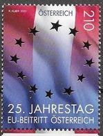 AUSTRIA, 2020, MNH, EUROPEAN UNION, FLAGS,25th ANNIVERSARY OF AUSTRIA JOINING EU,1v - European Community