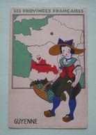 LES PROVINCES FRANCAISES - GUYENNE - Format Carte Postale Ancienne - Artis Historia