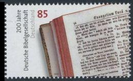 2012Germany2955German Bible Society - Unused Stamps