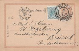 Autriche Entier Postal Velden Pour La Belgique 1897 - Stamped Stationery