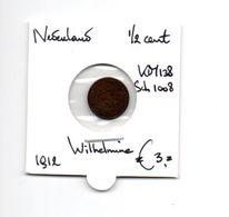 NEDERLAND 1/2 CENT 1912 WILHELMINA - 0.5 Cent
