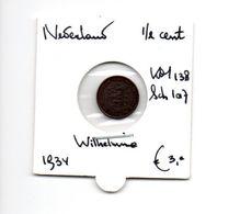 NEDERLAND 1/2 CENT 1934 WILHELMINA - 0.5 Cent