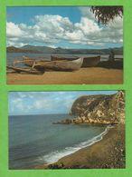 """4 CARTES DE MAYOTTE : LE LAGON A PAMANDZI PLAGE DE MOYA VUE LE """"CHOUNGUI"""" (SANS TIMBRE) - Mayotte"""