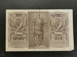 Regno D'italia,  Due Lire 1939 - [ 1] …-1946 : Royaume