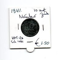 NEDERLAND 10 CENTS 1941 ZINK - [ 3] 1815-… : Royaume Des Pays-Bas