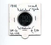 NEDERLAND 10 CENTS 1942 ZINK - [ 3] 1815-… : Royaume Des Pays-Bas