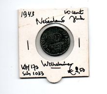 NEDERLAND 10 CENTS 1943 ZINK - [ 3] 1815-… : Royaume Des Pays-Bas